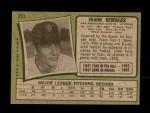 1971 Topps #251  Frank Reberger  Back Thumbnail