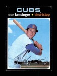 1971 Topps #455  Don Kessinger  Front Thumbnail