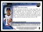 2010 Topps Update #202  Mitch Moreland  Back Thumbnail