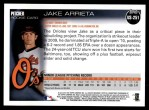 2010 Topps Update #251  Jake Arrieta  Back Thumbnail