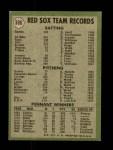 1971 Topps #386   Red Sox Team Back Thumbnail