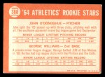 1964 Topps #388   -  George Williams / John O'Donghue Athletics Rookies Back Thumbnail