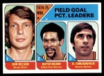 1975 Topps #2   -  Don Nelson / Rudy Tomjanovich / Butch Beard NBA Field Goal Leaders Front Thumbnail