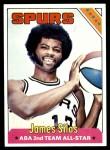 1975 Topps #253  James Silas  Front Thumbnail