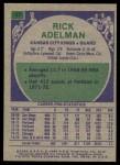 1975 Topps #67  Rick Adelman  Back Thumbnail