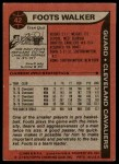 1979 Topps #42  Foots Walker  Back Thumbnail