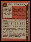 1979 Topps #69  Joe Meriweather  Back Thumbnail