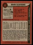 1979 Topps #98  Mark Olberding  Back Thumbnail