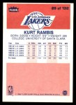 1986 Fleer #89  Kurt Rambis  Back Thumbnail