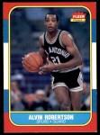 1986 Fleer #92  Alvin Robertson  Front Thumbnail