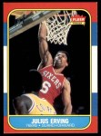 1986 Fleer #31  Julius Erving  Front Thumbnail