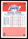 1986 Fleer #17  Michael Cooper  Back Thumbnail