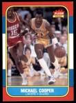 1986 Fleer #17  Michael Cooper  Front Thumbnail