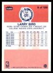 1986 Fleer #9  Larry Bird  Back Thumbnail