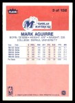 1986 Fleer #3  Mark Aguirre  Back Thumbnail