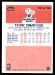 1986 Fleer #20  Terry Cummings  Back Thumbnail