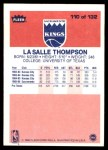 1986 Fleer #110  LaSalle Thompson  Back Thumbnail