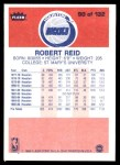 1986 Fleer #90  Robert Reid  Back Thumbnail