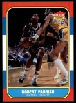 1986 Fleer #84  Robert Parish  Front Thumbnail
