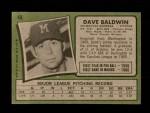 1971 Topps #48  Dave Baldwin  Back Thumbnail