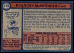 1974 Topps #173  Kennedy McIntosh  Back Thumbnail
