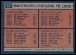 1974 Topps #221  Joe Caldwell / Tom Owens / Mack Calvin / Billy Cunningham  Back Thumbnail