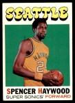 1971 Topps #20  Spencer Haywood   Front Thumbnail