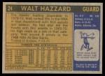 1971 Topps #24  Walt Hazzard  Back Thumbnail