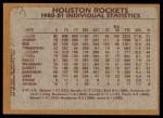 1981 Topps #52   Rockets Leaders Back Thumbnail