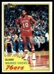 1981 Topps #90 E Maurice Cheeks  Front Thumbnail
