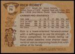 1981 Topps #76 E Rick Robey  Back Thumbnail