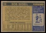 1971 Topps #153  Bob Bedell  Back Thumbnail