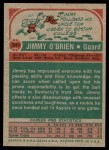 1973 Topps #241  Jimmy O'Brien  Back Thumbnail
