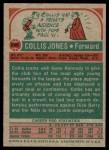 1973 Topps #246  Collis Jones  Back Thumbnail