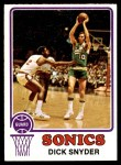 1973 Topps #86  Dick Snyder  Front Thumbnail