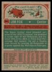 1973 Topps #24  Jim Fox  Back Thumbnail