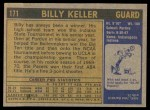 1971 Topps #171  Billy Keller  Back Thumbnail