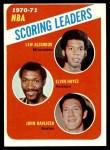 1971 Topps #138   -  Lew Alcindor / Elvin Hayes / John Havlicek NBA Scoring Leaders Front Thumbnail