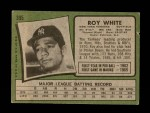 1971 Topps #395  Roy White  Back Thumbnail