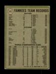 1971 Topps #543   Yankees Team Back Thumbnail