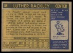 1971 Topps #88  Luther Rackley   Back Thumbnail