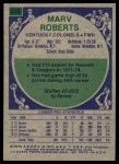 1975 Topps #238  Marv Roberts  Back Thumbnail