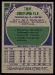 1975 Topps #102  Tom Boerwinkle  Back Thumbnail