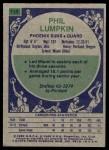 1975 Topps #114  Phil Lumpkin  Back Thumbnail