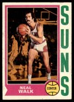 1974 Topps #17  Neal Walk  Front Thumbnail