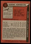 1979 Topps #24  Eddie Johnson  Back Thumbnail