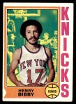 1974 Topps #16  Henry Bibby  Front Thumbnail