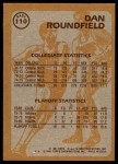 1981 Topps #110 E  -  Dan Roundfield Super Action Back Thumbnail