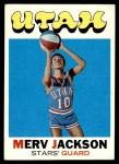 1971 Topps #154  Merv Jackson  Front Thumbnail