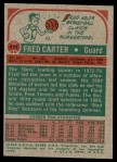 1973 Topps #111  Fred Carter  Back Thumbnail
